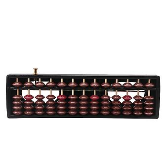 New Child Abacus Soroban 13 Rods Beads Column Student Aid Tool winding device
