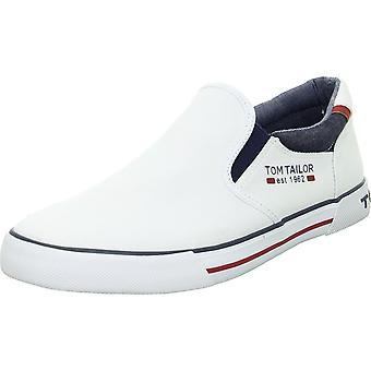 Tom Tailor 1180803WHITE 1180803 sapatos masculinos universais brancos