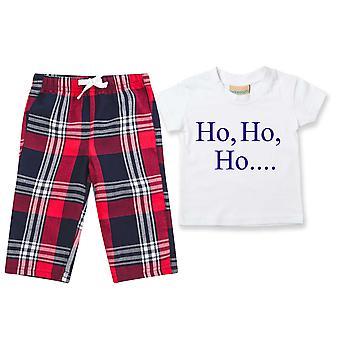 Ho Ho Ho Weihnachten Kinder Tartan Hose Pyjamas