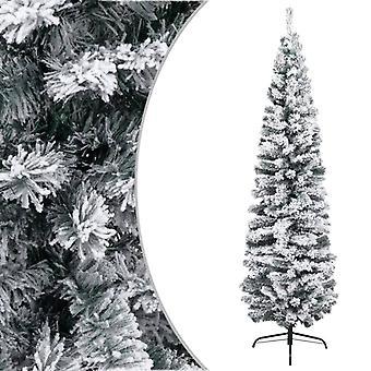 vidaXL Mince arbre de Noël artificiel enneigé vert 210 cm PVC