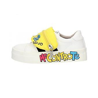 Shoes Baby Liu-jo Sneaker Me Against You Alicia Strap White/ Yellow Zs21lj15 4f0829