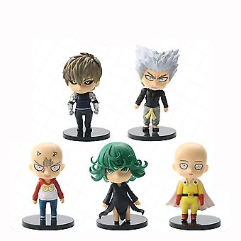 5pcs One Punch Man Figure Set Saitama Toy Doll Anime Collection