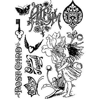 "Prima Marketing Nature Garden Cling Stamps 3.5""X5"" Ansichtkaart"