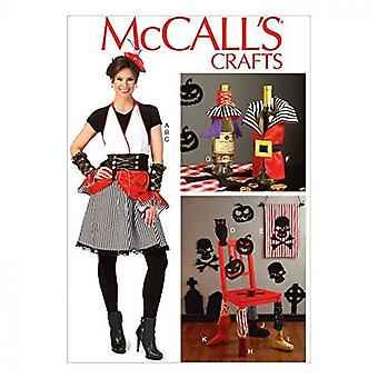 McCalls ompelu kuvio 7005 Halloween esiliina puku & kodin koristeet