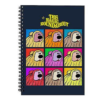 The Magic Roundabout Dougal Pop Art Spiral Notebook