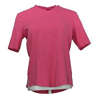 Isaac Mizrahi en direct! Femmes-apos;s Top Essentials V-Neck Elbow Sleeve Rose A289635