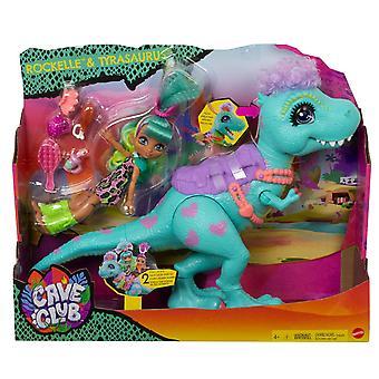 Cave Club Rockelle Doll and Tyrasaurus Dinosaur Figure