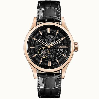 Ingersoll I06802 The Armstrong Automatic Rose Gold & Black Leather Mens Watch