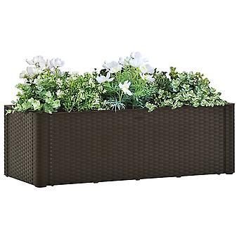 vidaXL حديقة سرير مرتفع مع نظام الري الذاتي موكا 100x43x33 سم