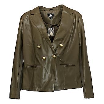 G Par Giuliana Women's X-Large Faux Leather Blazer Vert 708458