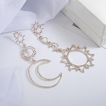 New Earrings Simple Sun God Moon God Asymmetric Exaggeration Earrings