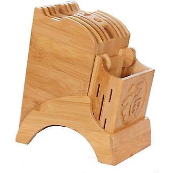 Messerblock aus Bambus ohne Messer Messeraufbewahrung Organizer und Halter fr Messer, Scheren und