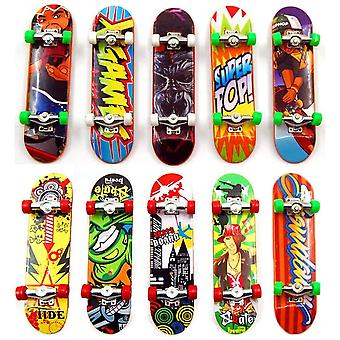 FengChun 10 Stck Mini Finger Skateboard Spielzeug Deck Truck Griffbrett Junge Kind Spielzeug Kinder
