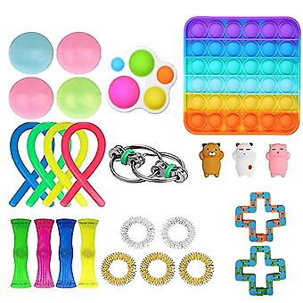 19pcs Pack Fidget Toys Sensory Toy Set Antistress Relief Fidget Toys