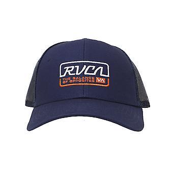 RVCA Factory Trucker Cap in Navy