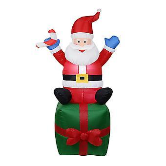 Led joulu puhallettava holvikäytävä pihat, kaari joulupukin lumiukon kanssa, Puutarha