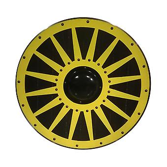 Wooden Viking handmade shield metal wheel SWE41