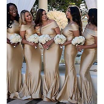 Kvinnor Sjöjungfru Bridesmaid Klänningar