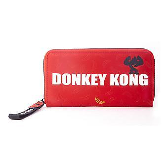 Nintendo - Donkey Kong Logo Zip Around Wallet Purse (Red)
