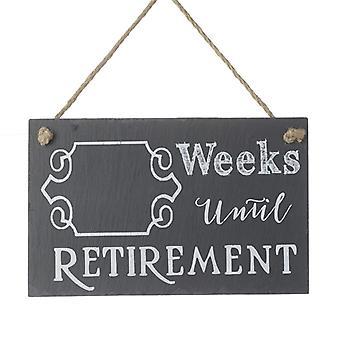 Semaines jusqu'à la retraite Slate Sign by Heaven Sends