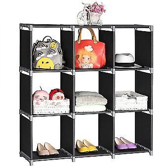 Multifunctional Assembled 3 Tiers 9 Compartments Storage Shelf (uk Order Only)