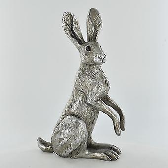 antikk sølv valmue hare ornament