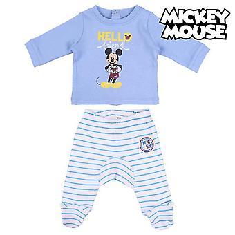 Conjunto de roupas Mickey Mouse Azul