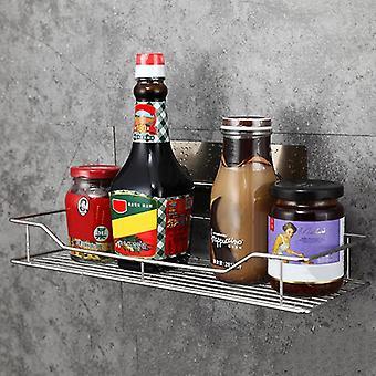 Stainless Steel Bathroom Shelf Punch-free Kitchen Wall Hanging Storage Rack