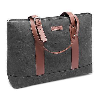 Women 15.6 Inch Laptop Tote Bag Lightweight Tablet Shoulder Bag,bark