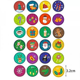 10 Sets Of Advent Calendar Stickers Gift Bag Labels Candy Box Sealed Decorations