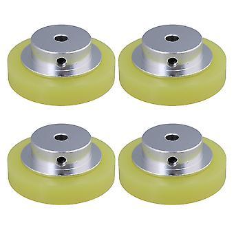 מפענחי מעגלים מקודדים 4pcs אלומיניום סיליקון מקודד מטר גלגלים 50x6mm עבור אביזרים סיבוביים