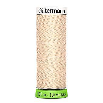 Gutermann 100% genanvendt polyester sy-alle tråd 100m hånd og maskine - 005