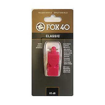 Fox 40 classic whistle safety outdoor camping sports referee football - red
