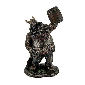 Viking Warrior Toasting the Dead Statue Figurine