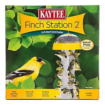 "Kaytee Finch Station 2 Sock Feeder - 9-1/8"" Diameter x 21"" Tall"