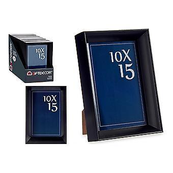 Fotoramme svart glassplast (12,2 x 3,5 x 17,3 cm)