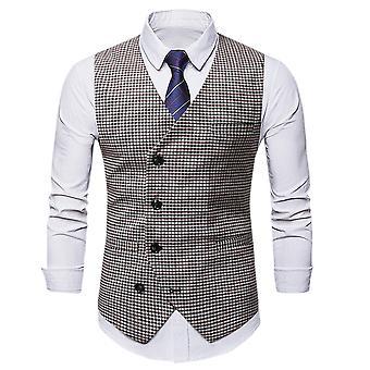 Allthemen Men's High-quality Slim-fit Oblique Buckle Vest All-match Suit Vest 5 Sizes