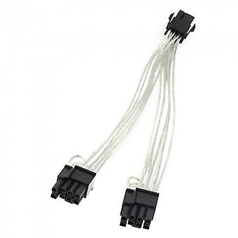 Computer Gpu Pcie 6 Pin Female To Dual 8 Pin (6+2) Male Pci-adapter Power Cable Pci Extension Cable Y-splitter Cable