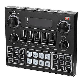 V9 audio studio sound card 3.5mm microphone headset live broadcast studio phone bluetooth sound