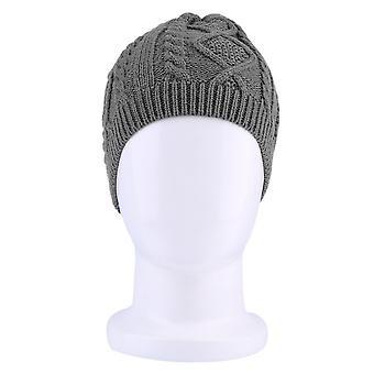 Femmes Chaude Hiver Béret Tressé Baggy Bonnet Tricoté Crochet Chapeau Bonnet de Ski