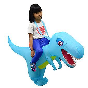 Small Child Lake Blue Big-headed Dinosaur (80-120cm) Yutube Same Dinosaur Inflatable Costume Halloween Costume