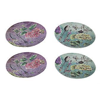 4-дюймовый кусок сад проезд Открытка печать 8 керамическая плита набор