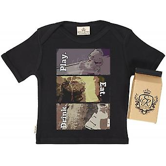 Spoilt Rotten Eat. Drink. Play. Babys T-Shirt 100% Organic In Milk Carton