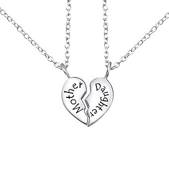 Mother And Daughter - 925 Sterling Silver Plain Necklaces - W26382X