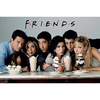 Vänner - TV Cast dela Milkshake affisch affisch Skriv