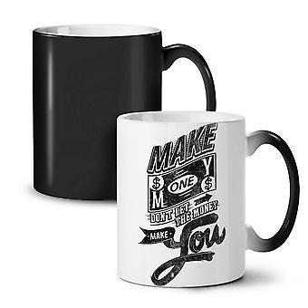 Make Money Dollar NEW Black Colour Changing Tea Coffee Ceramic Mug 11 oz | Wellcoda