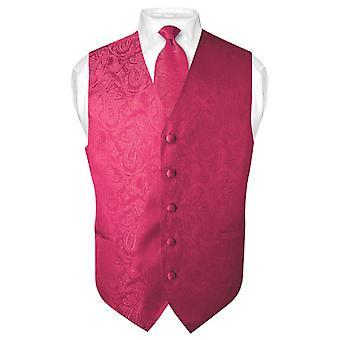 גברים ' s עיצוב פייזלי שמלה אפוד & עניבה עניבה הגדר