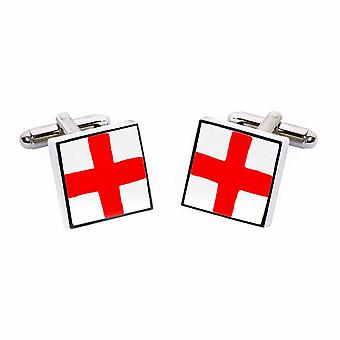 St George Cross Cufflinks by Sonia Spencer, in Presentation Gift Box. England, English