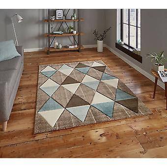 Retângulo azul bege de Brooklyn 21896 tapetes tapetes modernos