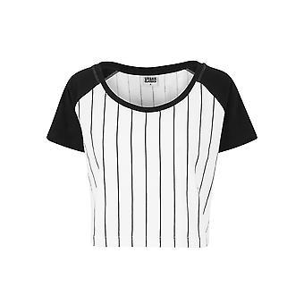 Urban Classics Damen T-Shirt Cropped Baseball